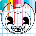 Coloring Bendy book icon