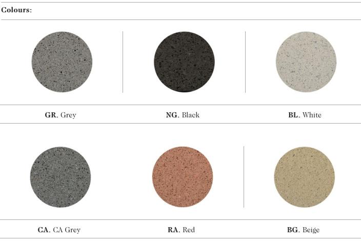 De kleurmogelijkheden van de Binario zitbanken uit de collectie van Escofet 1886
