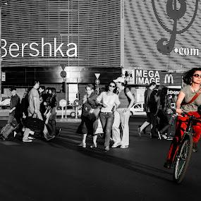 Bershka on the bike by Cretu Stefan Daniel - Products & Objects Signs