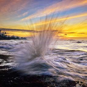 Higher by Hendri Suhandi - Landscapes Beaches ( bali, splash, wave, sunrise, beach )