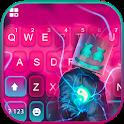 Cool Neon Flash DJ Keyboard Theme icon