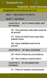 Bangladesh's The Evidence Act 1872 - náhled