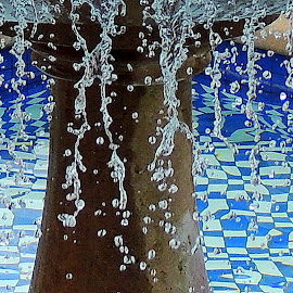 Strands Of Water by Becky Luschei - Nature Up Close Water ( fountain, focus, cascading, water, strands )