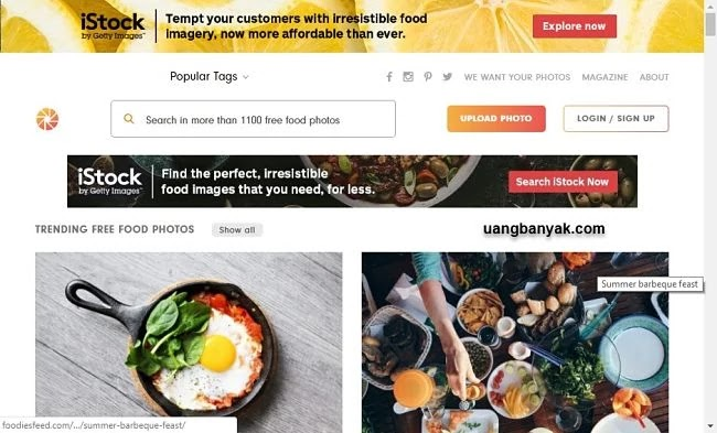 penyedia gambar gratis foodiesfeed untuk keperluan blogging