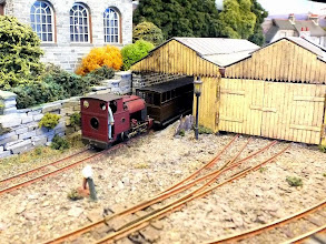 Photo: 007 The covered station shed at Corris, superbly modelled by Rod Allcock and Geoff Broadhurst .