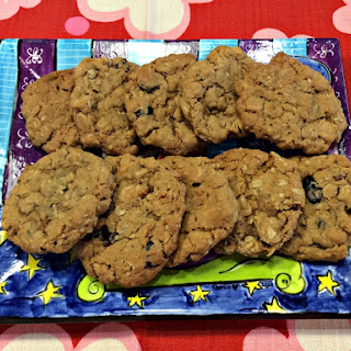 Oat and Craisin Cookies.