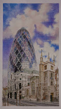 Photo: Morryce Maddams : St. Andrews Church.  (City of London). : 46.5 x 25.5cm