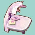 ピンククリスタルなベッド