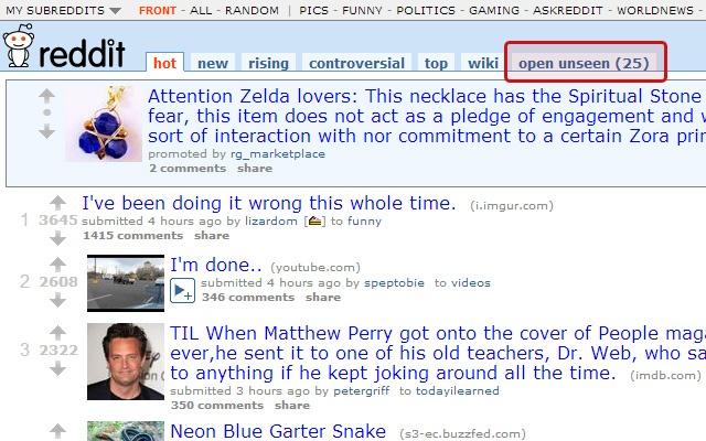 Reddit: Remember seen links, open all unseen