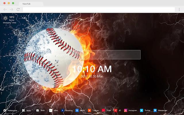 Baseball sport vitality HD wallpaper theme