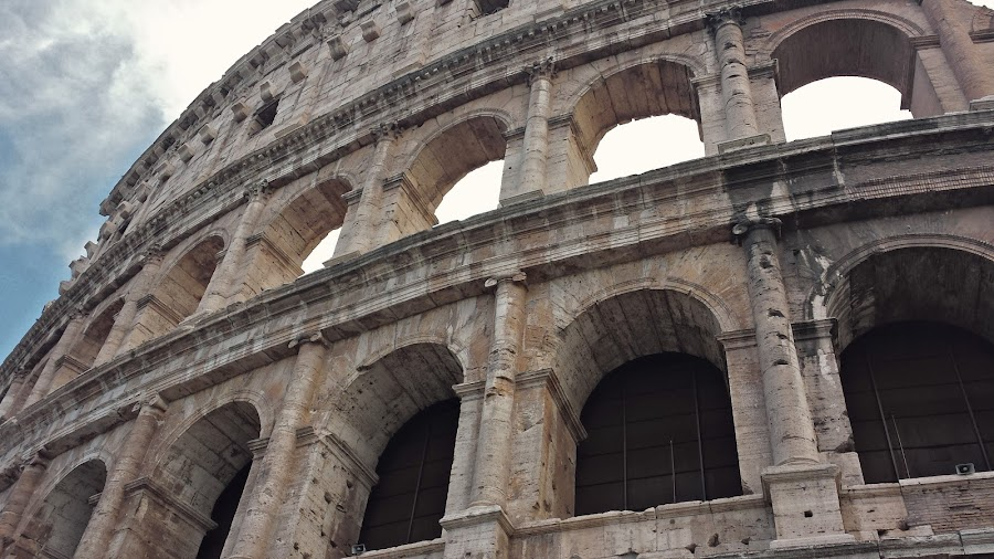 Great Coloseum. by Martina Frnčová - Buildings & Architecture Statues & Monuments ( rome, sight, history, monument, arch, coloseum, architecture,  )
