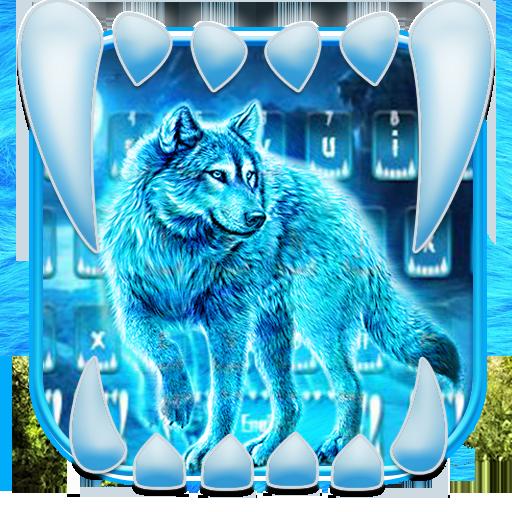 Neon Night Wolf Keyboard Theme