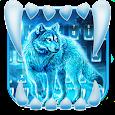 Neon Night Wolf Keyboard Theme icon