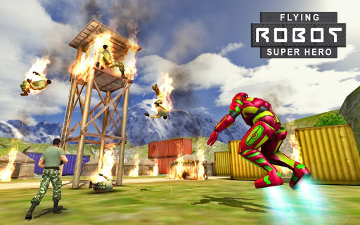 Flying Robot Superhero Rescue for PC