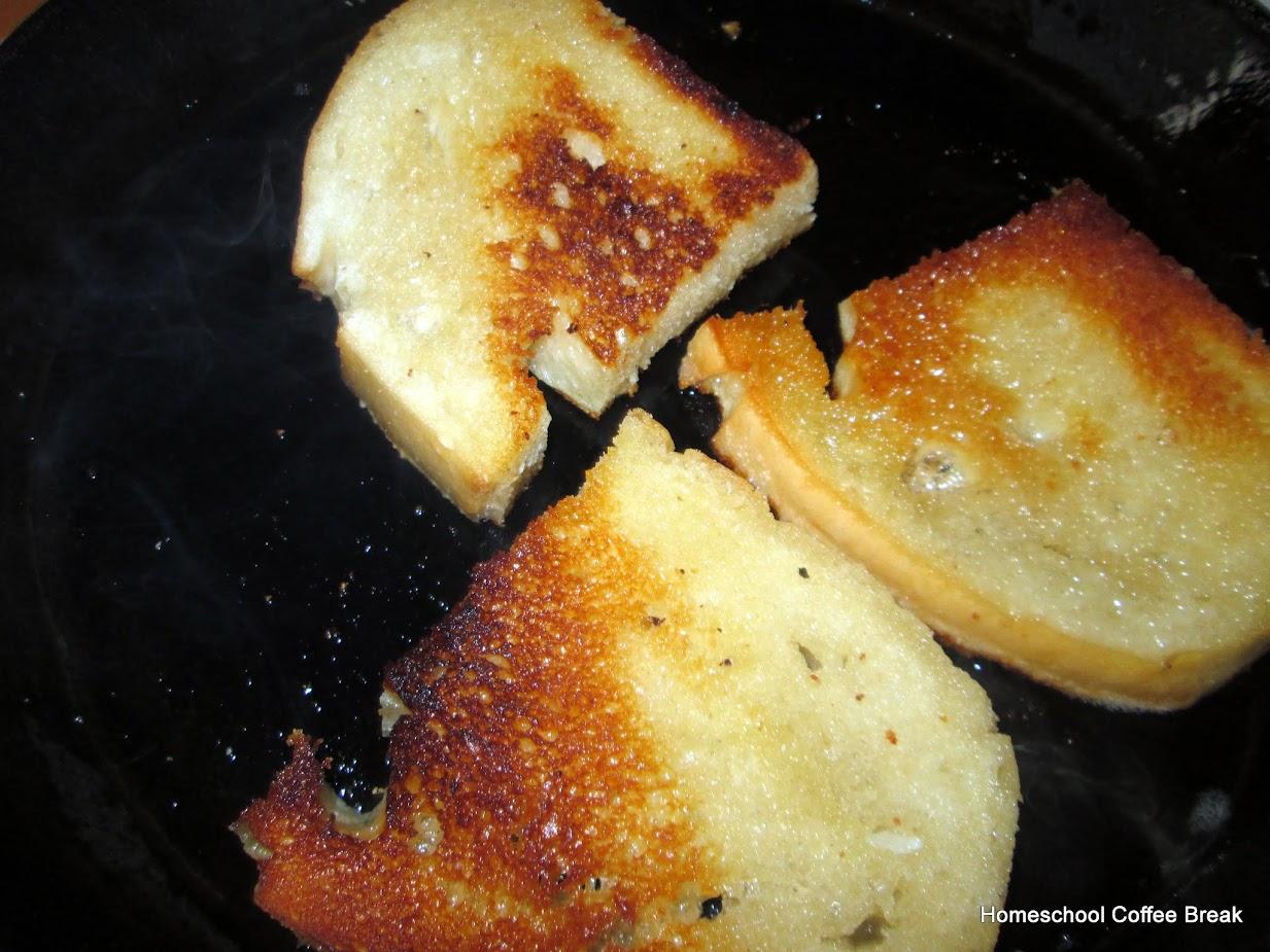 A Taste of Europe - Garlic Bread Slovakian Style on Homeschool Coffee Break @ kympossibleblog.blogspot.com