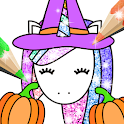 Halloween Coloring Book Glitter icon