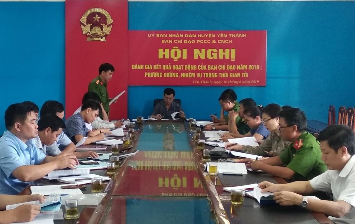 Huyện Yên Thành tăng cường công tác PCCC&CN,CH năm 2019