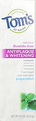 Tom's of Maine Antiplaque and Whitening Toothpaste - Peppermint, 155.9g