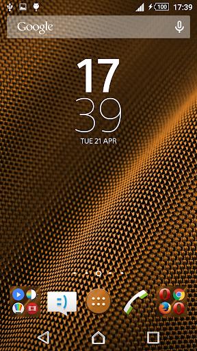 Metal Orange Xperien Theme