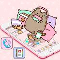 Cuteness Cartoon Pusheen Cat Launcher Theme 😽 icon