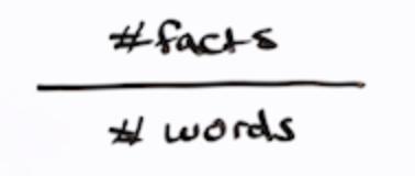 формула определения информационной ценности