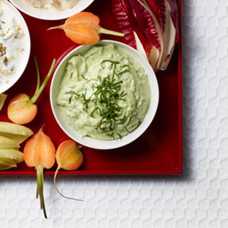 Avocado, Mint, and Yogurt Dip