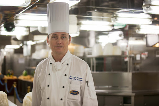 Ruby-Princess-head-chef - Russell Clarke, Chef De Cuisine, in the kitchen of Ruby Princess.
