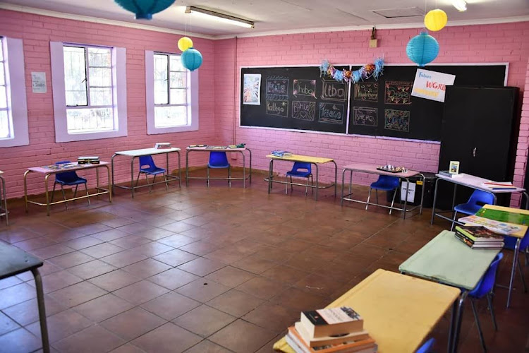 One of the revamped classrooms that Mandisa Jiyane holds her workshops and sessions in.