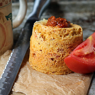 Sun Dried Tomato Pesto Mug Cake