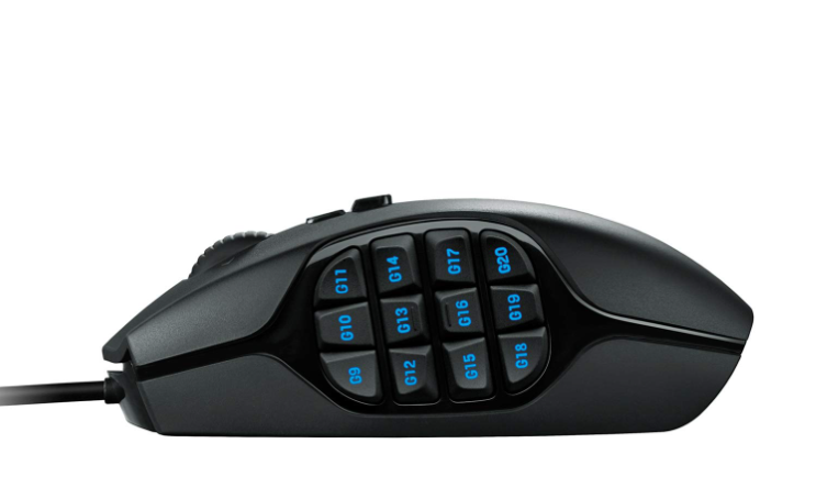 Logitech G600 MMO gaming mouse with 12 side buttons