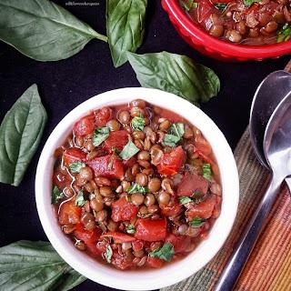 Crock-Pot Bruschetta & Lentil Stew