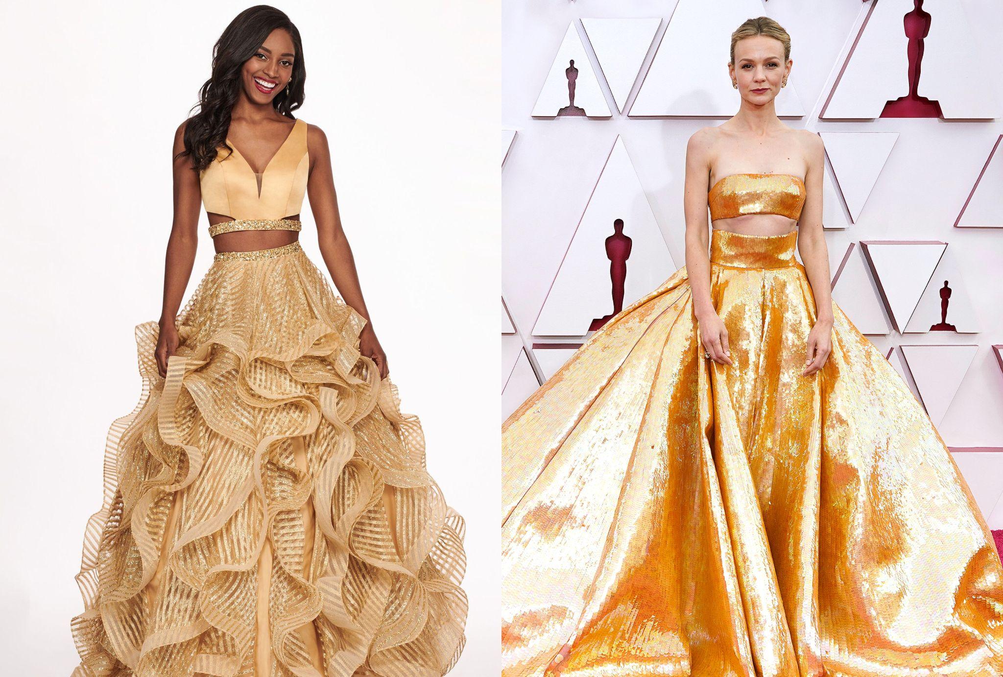golden two-piece Haute Valentino Dresses
