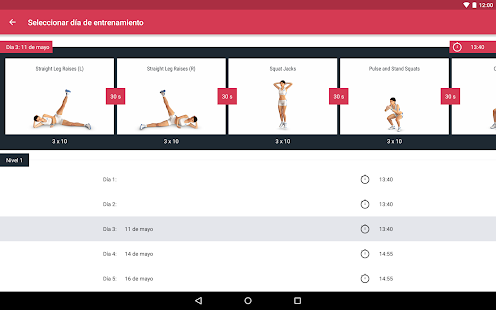 Runtastic Leg Trainer: Entrenamiento para piernas Screenshot