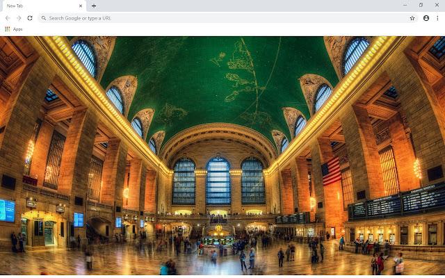 Grand Central Terminal New Tab Theme