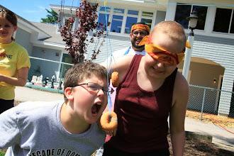 Photo: Day 3: Foodie Olympics: Donut Fishin'