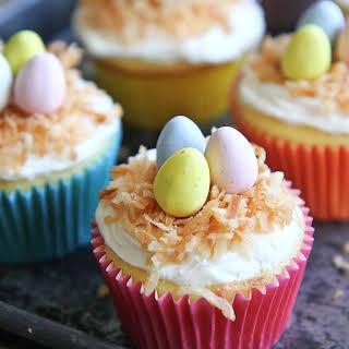 Easy Coconut Cupcakes.