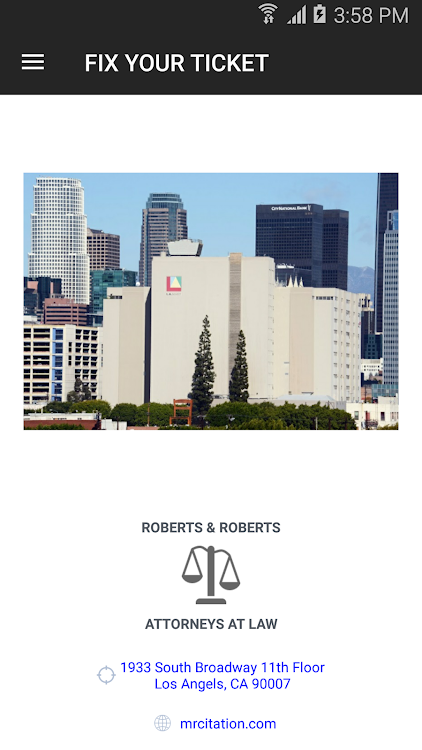 Fix A Ticket >> Fix Your Ticket Roberts Roberts Law Firm Android