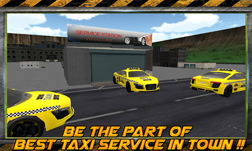 黃色的出租車司機城市拉什
