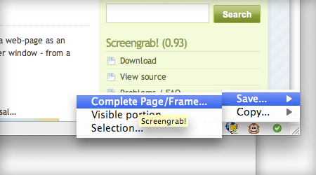 Screengrab add-on