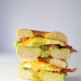 Bacon Egg and Avocado Breakfast Sandwich.