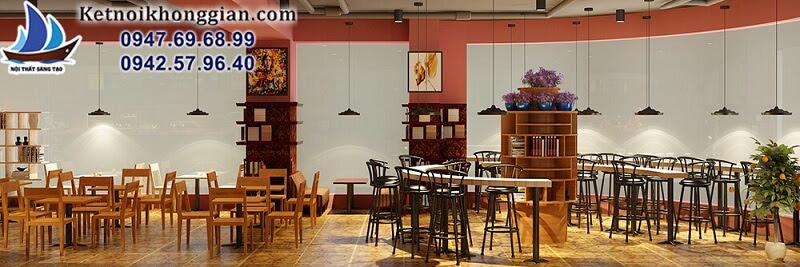 thiết kế quán cafe sách trẻ trung, đẹp mê hồn