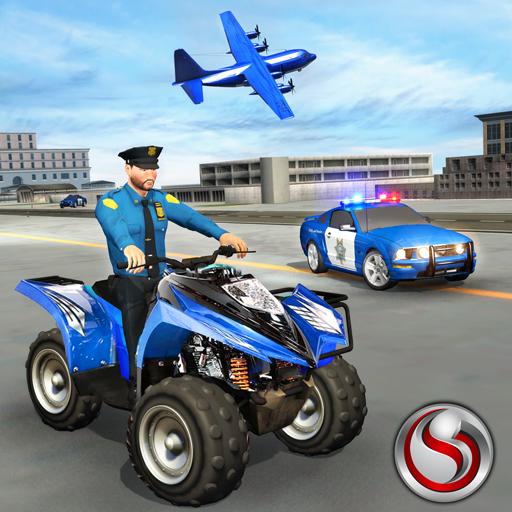 US Police ATV Quad Bike Plane Transport Game for PC