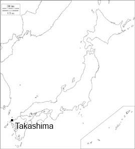 Carte du Japon - Emplacement de l'�le de Takashima