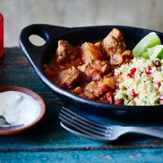 Moroccan Lamb Tagine with Lemon and Pomegranate Couscous Recipe
