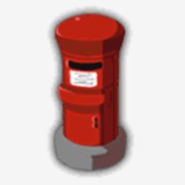 大きな郵便ポスト