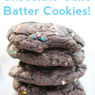Chocolate Cake Batter Cookies