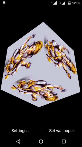 Ganesh 3D cube live wallpaper