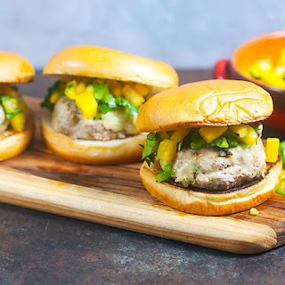 Jerk Turkey Burgers with Pineapple Salsa.