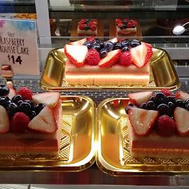 Gourmet Desserts by Rita Goebert - Food & Drink Candy & Dessert ( fruit desserts; wegman's food markets; rochester, raspberry mousse cake )