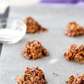 Light(Er) No-Bake Cookies Recipe with Dulce De Leche, Sea Salt & Oatmeal Recipe